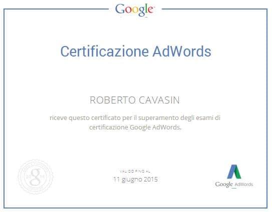 Certificazione Google AdWords Treviso