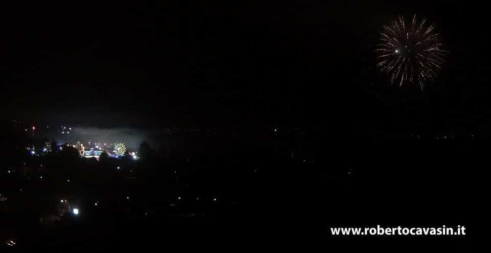 Riprese Drone Fuochi Artificio Treviso