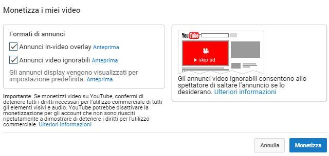 Monetizzare con Youtube