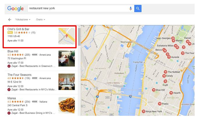 Annunci Adwords in Google Maps
