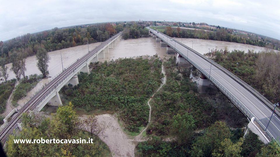 Piave Alluvione foto da Drone