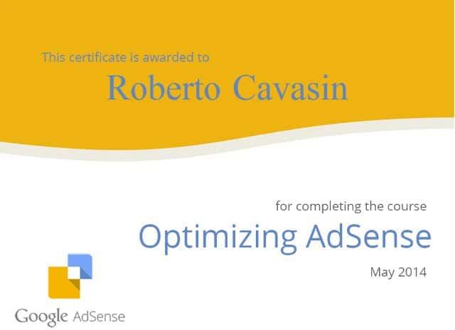 Certificazione Google AdSense