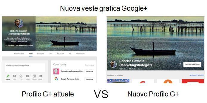 Nuova grafica Google+