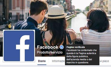Verificare una pagina Facebook