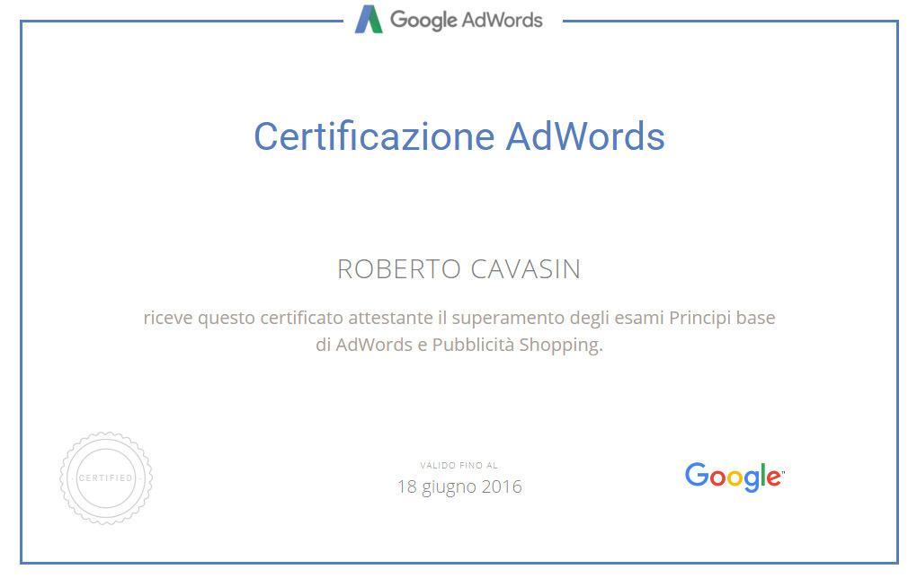 Certificazione Pubblicità Shopping