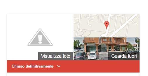 Chiuso Definitivamente su Google Maps