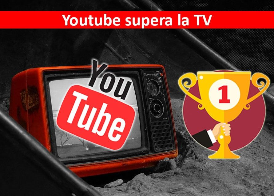 YouTube sorpassa l'audience della tv tradizionale