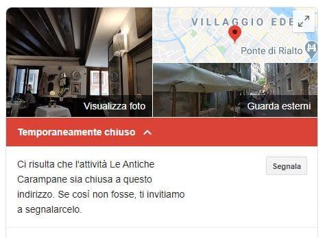 Google My Business notifica alle aziende nelle zone del Coronavirus di aggiornare le schede