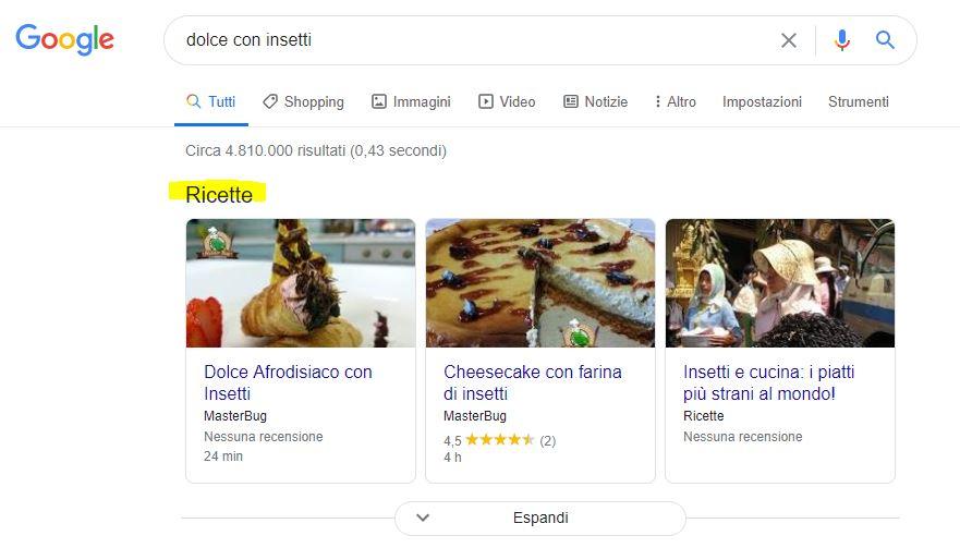 Ricette nella Ricerca di Google: Ora visibile il rendimento su Search Console